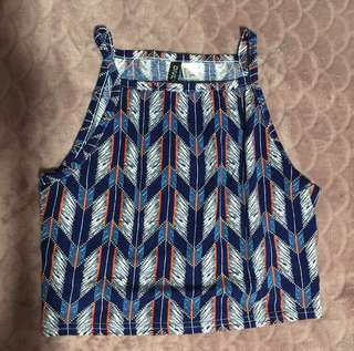 H&M Patterned Crop Top