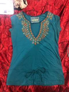 "Repriced!! ""Miss Me"" beaded top"
