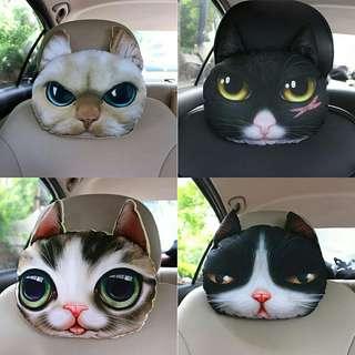 13 designs 3D animal faces car headrest