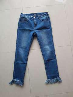 skinny frayed jeans