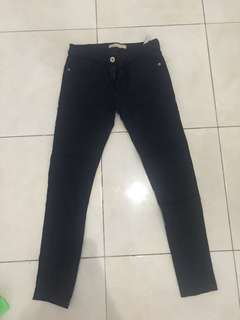 zara jegging navy blue