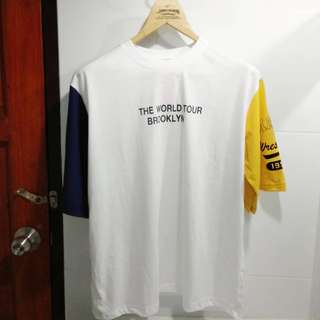 Tumblr Tee White Black Yellow T - Shirt / Baju Kaos Murah Impor