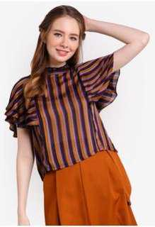 Bysi Ruffled Sleeve Top