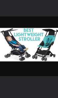 Pockitt stroller preloved in dark blue