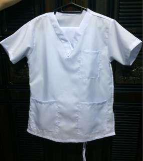 White Scrub Suit - XS