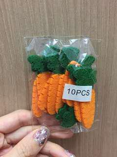10 pcs laser cut carrot