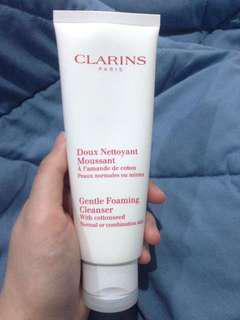 Clarins Gentle Foaming Cleanser with cottonseed #merdeka73