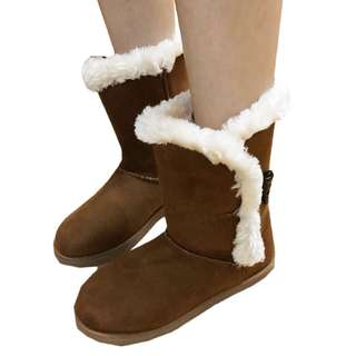 Target 女鞋 毛毛靴 短靴 保暖靴 平底鞋 US 5碼 舒服 furry muk luk boots ankle booties