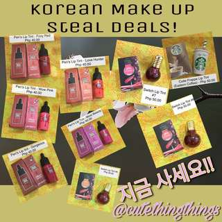 Get with the Korean Vibe! BN Korean Liptints and Make Up on Sale!