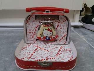 1998年 草莓新聞雜誌 限定 Hello kitty 復刻迷你膠啪啪碎錢包  box set