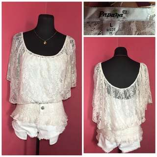Lacey blouse top