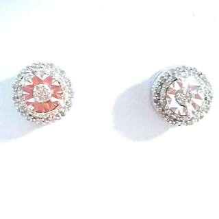 鑽石 925銀 耳環