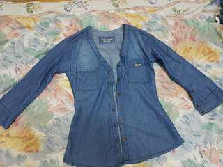Pre-loved denim blouse