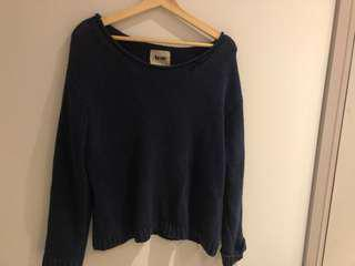 Acne Navy Knit Sweater