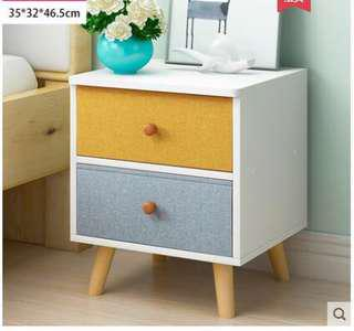Modern minimalist Color Bedside Table with nylon drawers