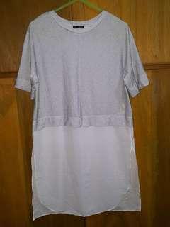 Zara t-shirt dress with side slit
