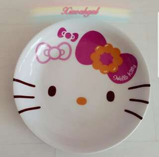 🌟21.5CM🌟🔴BIDDING $20➡️ MY FOLLOWERS🔴🚫Non Followers buy $59.90🚫💖AUTHENTIC BRAND NEW (in box) SANRIO ORIGINAL💖 Japan Hello Kitty Face x Mister Donut Plate💋No pet No smoker Clean Hse💋