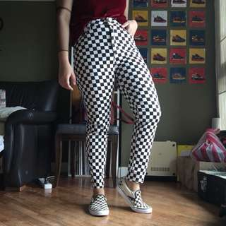 Forever 21 Checkerboard Pants