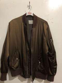 Chocolate bomber jacket