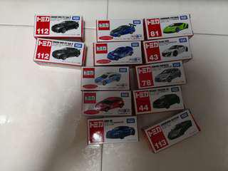 Assorted tomica