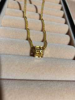 916 gold abacus round charm