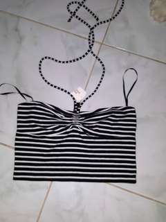 Forever 21 striped cropped top/tube top