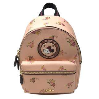 Coach X Disney Minnie Mouse Charlie Backpack Black Limited Edition Pink