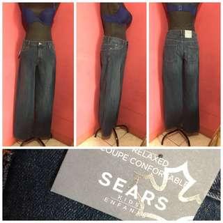 Maong straight pants