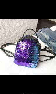 Sequin mini backpack+ shoulder bag