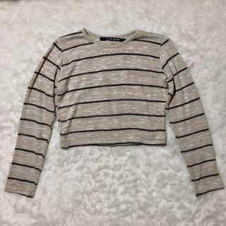 Crop knitted long sleeve