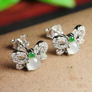 翡翠925耳環