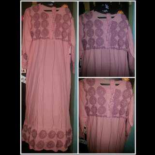 Abaya pastel pink