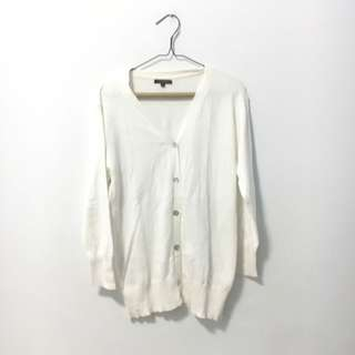 Topshop White Knitted Top