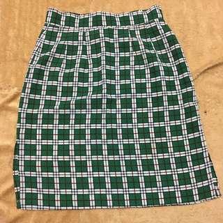 FREE SHIPPING MM‼️ Korean Green Plaid Skirt