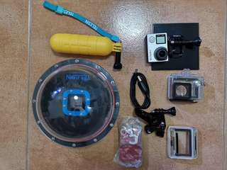 gopro hero4 silver with telesin dome