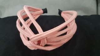Korean style line pink hairband