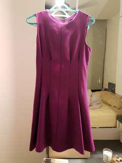 Topshop Purple skater dress with structured waist
