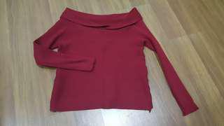 Off Shoulder Knitted Top