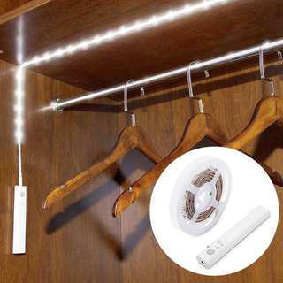 Flexible LED Strip Dual Mode Motion Night Light Lamp for Bedroom Cabinet Closet Daylight 5000K