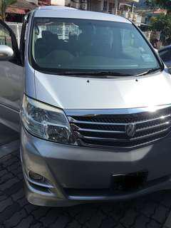 Toyota Alphard Vellfire for Rent Daily/Weekly/Monthly