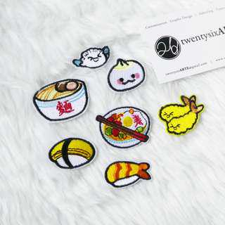 🚚 Iron On Patches | Japanese Food Series