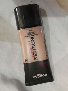 Foundation loreal infalible pro matte