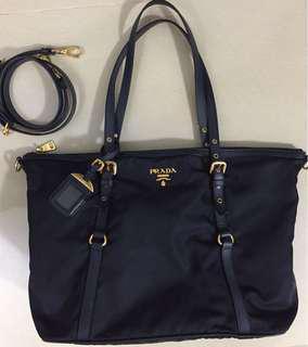 Prada 深藍色 3 way bag (100%real&85%new)