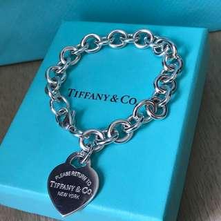 原價$3000 Return to Tiffany Heart Tag bracelet 心吊飾手鍊