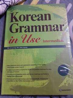 Korean Grammar in use intermediate ( new)