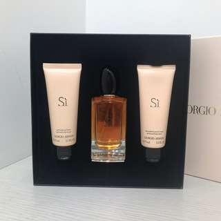 Giorgio Armani Si Perfume Lotion Body Gel Set