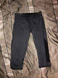 FREE POSTAGE Bonds grey mesh insert 3/4 gym leggings active wear