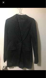 韓風黑色西裝外套
