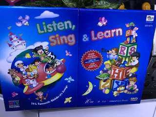 小朋友 兒歌Listen sing and learn DVD