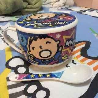 全新Sanrio大口仔湯碗杯連蓋湯匙